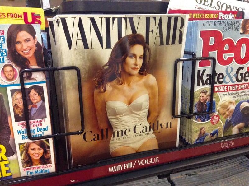 Forside af Vanity Fair med Bruce Jenner som Caitlyn Jenner